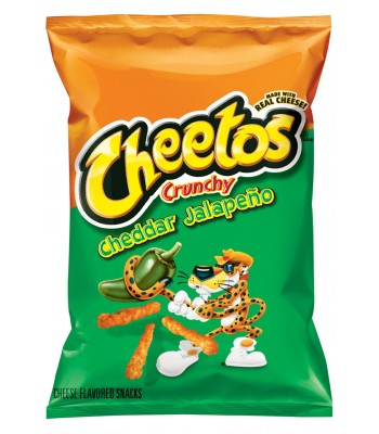 Cheetos Crunchy Jalapeno Cheddar 2oz 56.7g **Best Before: 28 February 2017** Crisps & Chips Cheetos