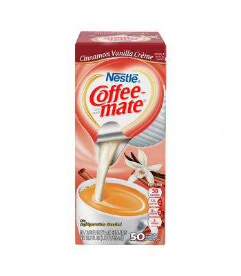 Coffee-Mate - Cinnamon Vanilla - Liquid Creamer Singles - 50-Piece x 3/8fl.oz (11ml) Hot Drinks Coffee Mate
