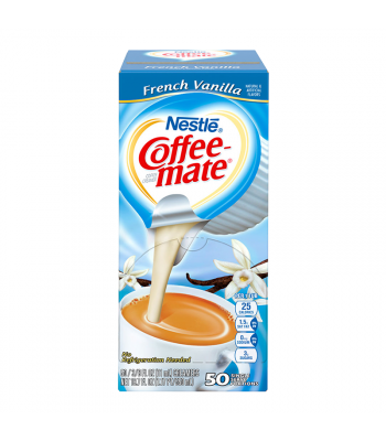 Coffee-Mate - French Vanilla - Liquid Creamer Singles - 50-Piece x 3/8fl.oz (11ml) Hot Drinks Coffee Mate