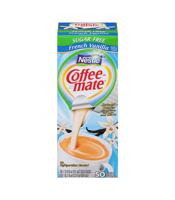 Coffee-Mate - Sugar Free French Vanilla - Liquid Creamer Singles - 50-Piece x 3/8fl.oz (11ml) Hot Drinks Coffee Mate