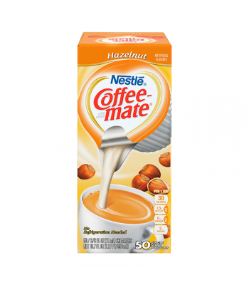 Coffee-Mate - Hazelnut - Liquid Creamer Singles - 50-Piece x 3/8fl.oz (11ml) Hot Drinks Coffee Mate