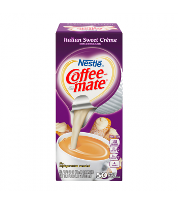 Coffee-Mate - Italian Sweet Cream - Liquid Creamer Singles - 50-Piece x 3/8fl.oz (11ml) Hot Drinks Coffee Mate