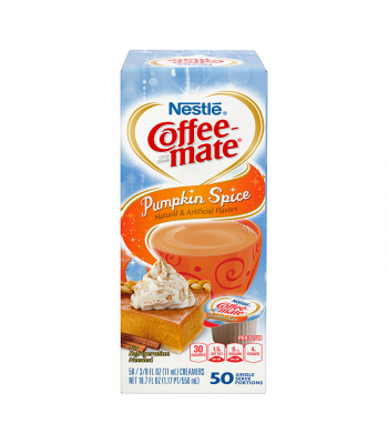 Coffee-Mate - Pumpkin Spice - Liquid Creamer Singles - 50-Piece x 3/8fl.oz (11ml) Hot Drinks Coffee Mate