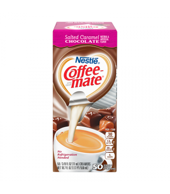 Coffee-Mate - Salted Caramel Chocolate - Liquid Creamer Singles - 50-Piece x 3/8fl.oz (11ml) Hot Drinks Coffee Mate