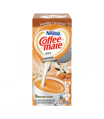 Coffee-Mate - Vanilla Caramel - Liquid Creamer Singles - 50-Piece x 3/8fl.oz (11ml) Hot Drinks Coffee Mate