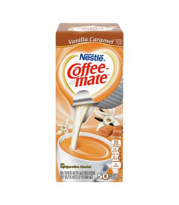 Coffee-Mate - Vanilla Caramel - Liquid Creamer Singles - 50-Piece x 3/8fl.oz (11ml) Hot Drinks Coffee Mate
