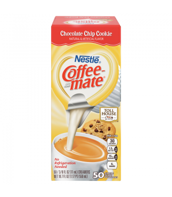 Coffee-Mate - Tollhouse Chocolate Chip - Liquid Creamer Singles - 50-Piece x 3/8fl.oz (11ml) Hot Drinks Coffee Mate