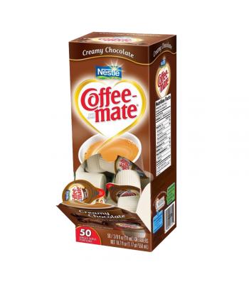 Coffee-Mate - Creamy Chocolate - Liquid Creamer Singles - 50-Piece x 3/8fl.oz (11ml) Soda and Drinks Coffee Mate