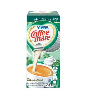 Clearance Special - Coffee-Mate - Irish Crème - Liquid Creamer Singles - 50-Piece x 3/8fl.oz (11ml) ** BEST BEFORE: June 2019 ** Clearance Zone