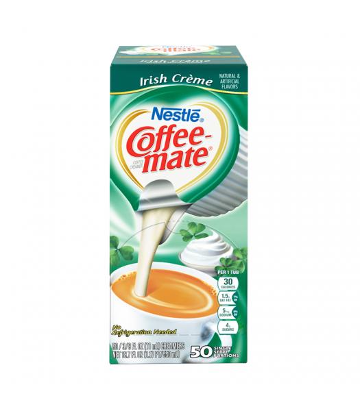 Coffee-Mate - Irish Crème - Liquid Creamer Singles - 50-Piece x 3/8fl.oz (11ml) Soda and Drinks Coffee Mate