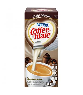 Coffee-Mate - Cafe Mocha - Liquid Creamer Singles - 50-Piece x 3/8fl.oz (11ml) Hot Drinks Coffee Mate