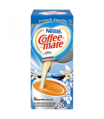 Clearance Special - Coffee-Mate - French Vanilla - Liquid Creamer Singles - 50-Piece x 3/8fl.oz (11ml) **DAMAGED** Clearance Zone
