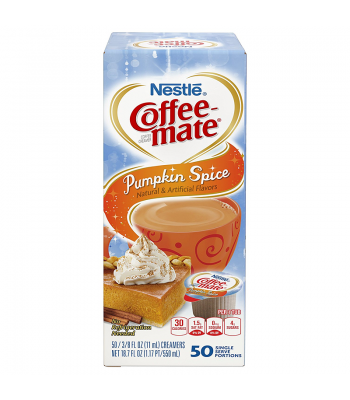 Coffee-Mate - Pumpkin Spice - Liquid Creamer Singles - 50-Piece x 3/8fl.oz (11ml) Hot Drinks Coffee Mate