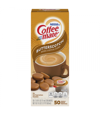 Coffee-Mate - Butterscotch - Liquid Creamer Singles - 50-Piece x 3/8fl.oz (11ml) Soda and Drinks Coffee Mate