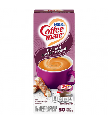 Coffee-Mate - Italian Sweet Cream - Liquid Creamer Singles - 50-Piece x 3/8fl.oz (11ml) Hot Drinks Coffee Mate