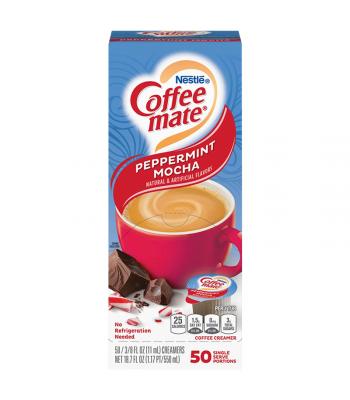 Coffee-Mate - Peppermint Mocha - Liquid Creamer Singles - 50-Piece x 3/8fl.oz (11ml) Hot Drinks Coffee Mate