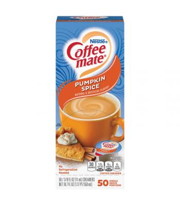 Coffee-Mate - Pumpkin Spice - Liquid Creamer Singles - 50-Piece x 3/8fl.oz (11ml) Soda and Drinks Coffee Mate