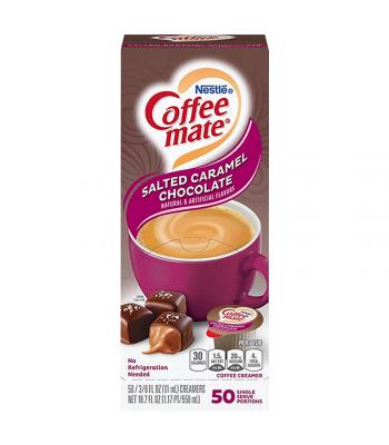 Coffee-Mate - Salted Caramel Chocolate - Liquid Creamer Singles - 50-Piece x 3/8fl.oz (11ml) Hot Drinks Coffee Mate