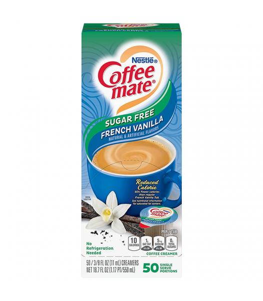 Coffee-Mate - Sugar Free French Vanilla - Liquid Creamer Singles - 50-Piece x 3/8fl.oz (11ml) Hot Drinks Coffee Mate