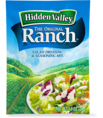 Hidden Valley Original Ranch Salad Dressing Dip & Seasoning Mix 1oz (28g)