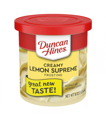 Clearance Special - Duncan Hines Creamy Lemon Supreme Frosting 16oz (454g) **Best Before: 09 July 21** Clearance Zone