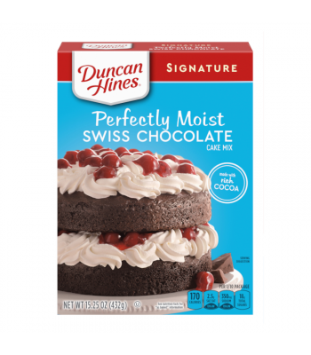 Clearance Special - Duncan Hines Signature Swiss Chocolate Cake Mix 15.25oz (432g) **Best Before: 28 Jan 21** Clearance Zone