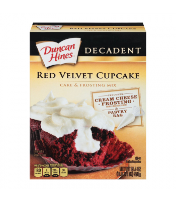 Duncan Hines Decadent Red Velvet Cupcake & Frosting Mix 19.4oz (550g) Food and Groceries Duncan Hines