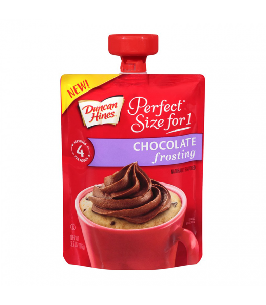 Clearance Special -Duncan Hines Perfect Size For One Chocolate Frosting 3.7oz (106g) ** BEST BEFORE: 28 March 2019 ** Clearance Zone