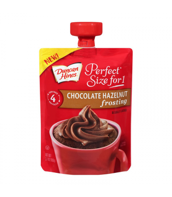 Clearance Special - Duncan Hines Perfect Size For One Chocolate Hazelnut Frosting 3.7oz (106g) **Best Before: 17 January 2019** Clearance Zone