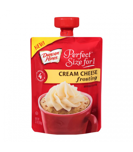 Duncan Hines Perfect Size For One Cream Cheese Frosting 3.7oz (106g) Food and Groceries Duncan Hines