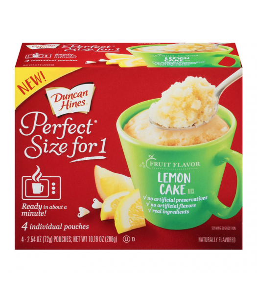 Duncan Hines Perfect Size for One - Lemon Cake Mix - 10.2oz (288g) Food and Groceries Duncan Hines