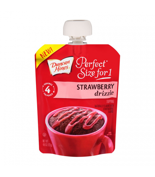 Duncan Hines Perfect Size For One Strawberry Drizzle 4.4oz (127g) Food and Groceries Duncan Hines