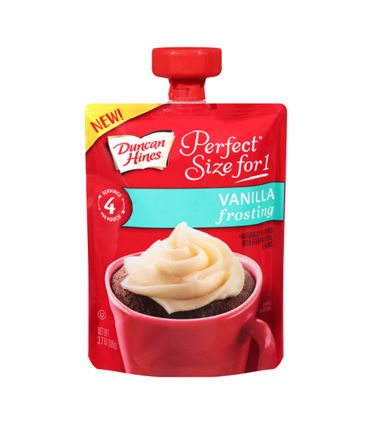 Duncan Hines Perfect Size For One Vanilla Frosting 3.7oz (106g) Food and Groceries Duncan Hines