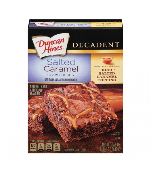 Duncan Hines Salted Caramel Brownie Mix 17.6oz (498g) Food and Groceries Duncan Hines