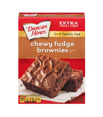 Duncan Hines Family Size Chewy Fudge Brownies Mix 18.3oz (520g) Food and Groceries Duncan Hines