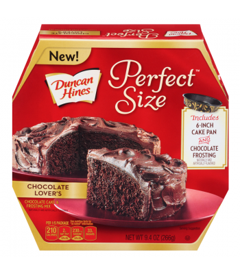 Duncan Hines Perfect Size Chocolate Lovers Cake Mix 9.4oz (266g) Baking & Cooking Duncan Hines