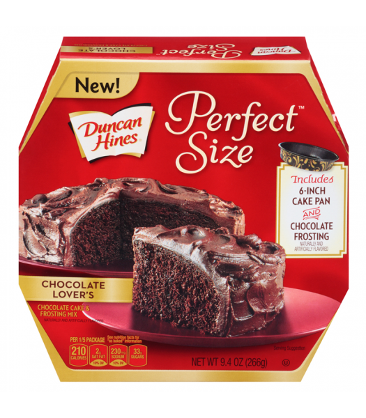 Duncan Hines Chocolate Lovers Cake Size For