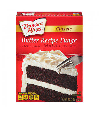 Duncan Hines Classic Butter Recipe Fudge Cake Mix 15.25oz (432g) Food and Groceries