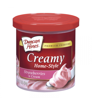 Duncan Hines Creamy Strawberries 'n Cream Frosting 16oz (454g) Baking & Cooking Duncan Hines