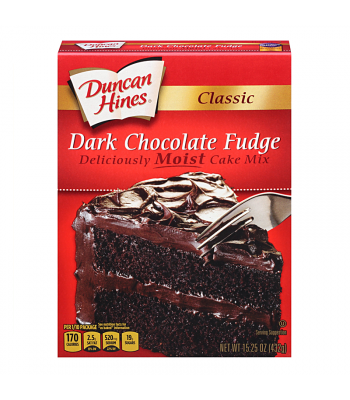 Duncan Hines Classic Dark Chocolate Fudge Cake Mix 15.25oz (432g) Food and Groceries Duncan Hines
