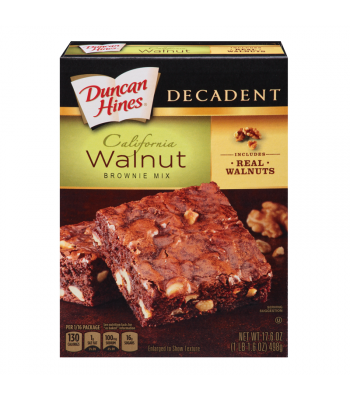 Duncan Hines Decadent California Walnut Brownie Mix 17.6oz (498g) Baking & Cooking Duncan Hines