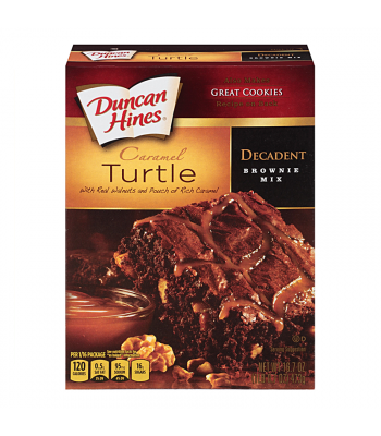 Duncan Hines Decadent Caramel Turtle Brownie Mix 16.7oz (473g) Food and Groceries Duncan Hines