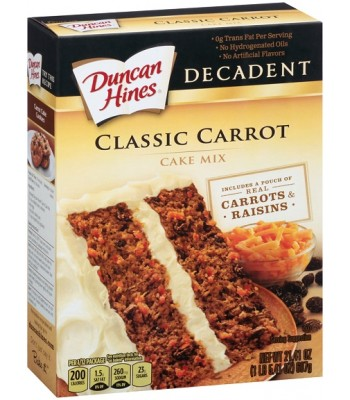 Duncan Hines Decadent Carrot Cake - 21.4oz