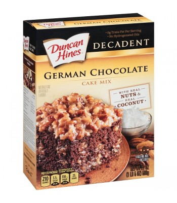 Duncan Hines Decadent German Chocolate Cake Mix 21oz (596g) Baking & Cooking