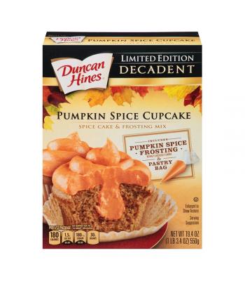 Duncan Hines Decadent Pumpkin Spice Cupcake - 19.4oz