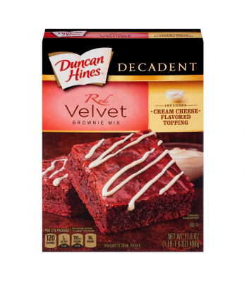 Duncan Hines Decadent Red Velvet Brownie Mix 17.6oz (498g) Food and Groceries Duncan Hines