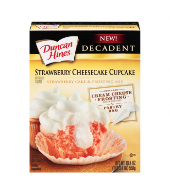 Duncan Hines Decadent Strawberry Cheesecake Cupcake - 19.4oz