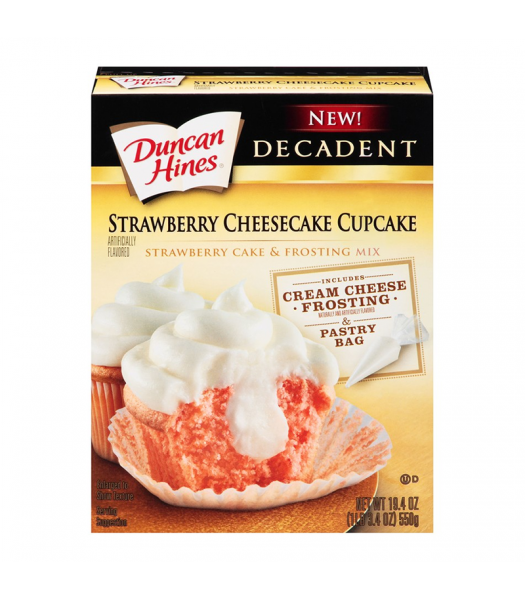 Duncan Hines Decadent Strawberry Cheesecake Cupcake - 19.4oz
