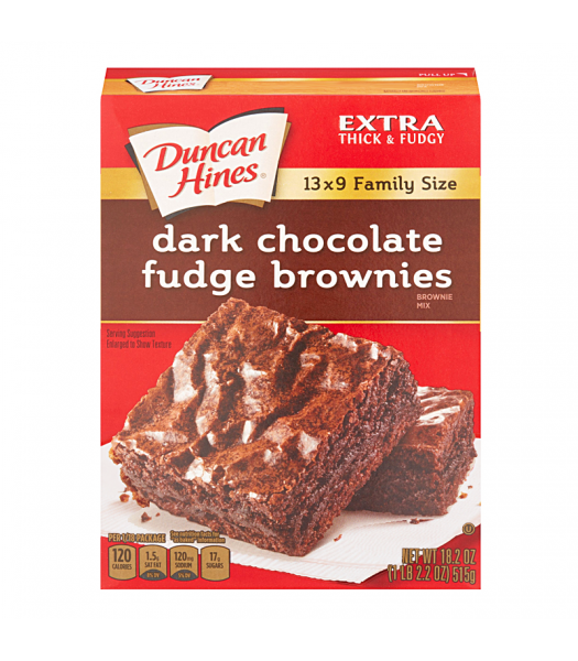 Duncan Hines Family Size Dark Chocolate Fudge Brownies Mix 18.2oz (515g) Baking & Cooking Duncan Hines