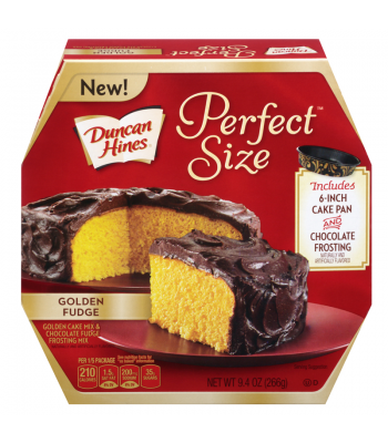 Clearance Special - Duncan Hines Perfect Size Lovers Golden Fudge 9.4oz ** January 2017 **